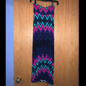 Multi color maxi skirt!